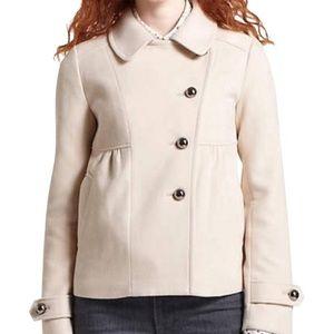 Anthropologie pea-coat. Cream. Sz 12. Worn once.